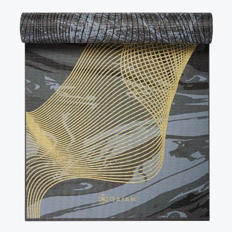Product Detail Gaiam Premium Reversible Metallic Spiral Journey Yoga Mat 6mm Gaiam Mats Gai Rym 2400 Metallic Spiral Journey