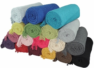 Kakaos Solid Color Cotton Yoga Blanket