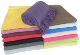 Solid Color Cotton Yoga Blankets 2.8 lbs