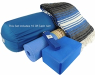Kakaos Yoga Studio Blanket and Round Bolster Set 10