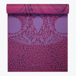 Gaiam 6mm Reversible Lilac Aurora Yoga Mat