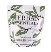 Herban Essentials 7 Individuall Wrapped Eucalyptus Towelettes