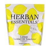 Herban Essentials 7 Individuall Wrapped Lemon Towelettes