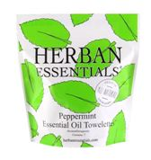 Herban Essentials 7 Individuall Wrapped Peppermint Towelettes