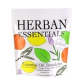 Herban Essentials 20 Individuall Wrapped Mixed Towelettes