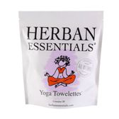 Herban Essentials 20 Individuall Wrapped Yoga Towelettes
