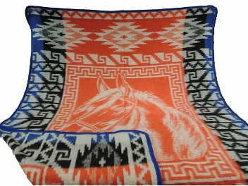 Thick Soft Yoga Blanket Horse Head Clearance