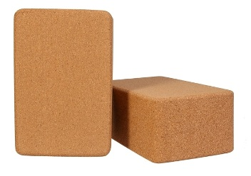 Kakaos 4 Inch Cork Yoga Block